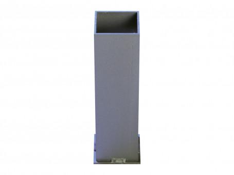 Bodemhuls aluminium 80 x 80 mm