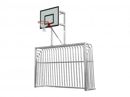 Trapdoel met basketbal oefenunit