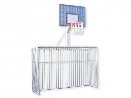Basketbalunit voor trapdoel van staal