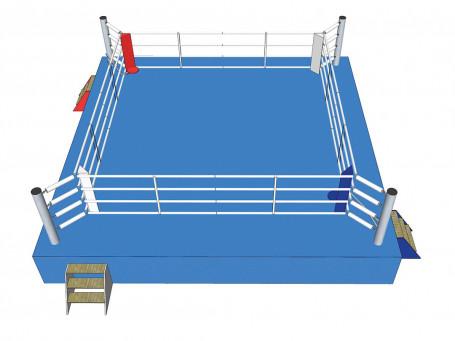 Boksring-wedstrijd volgens AIBA 7,8 x 7,8 meter