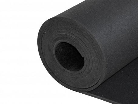 Puzzelmat van rubbergranulaat zwart 10 mm dik
