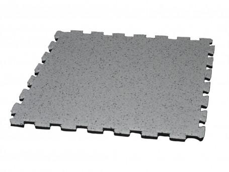 Puzzelmat van rubbergranulaat licht marmer 10 mm dik