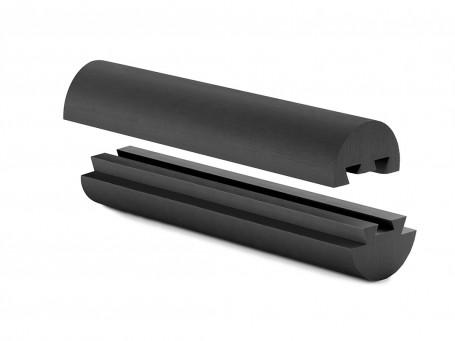 Twincise rol softX, 39 cm, zwart