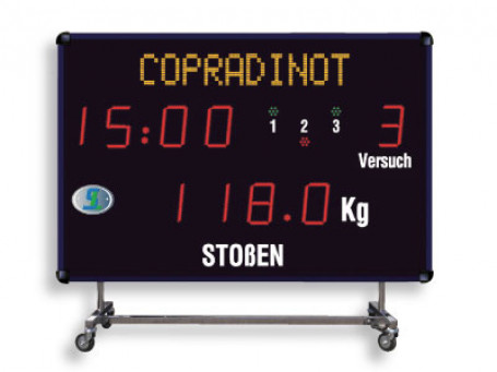 Gewichthef scorebord CHF