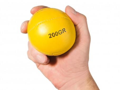 Werp- en slagbal van leer 200 gram