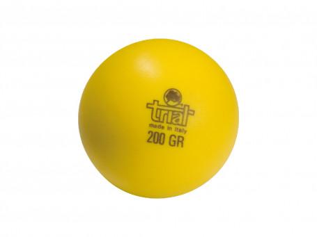Werp- en slagbal van kunststof 200 gram, Ø 6,5 cm