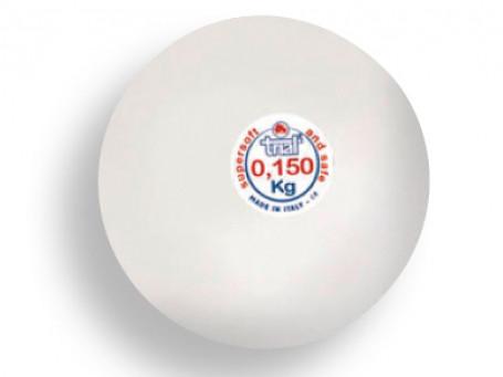 Werp- en slagbal van kunststof 150 gram, Ø 6,5 cm