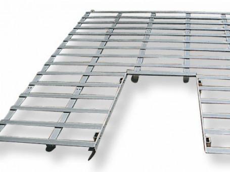 Lattenframes van aluminium voor hoogspringkussen