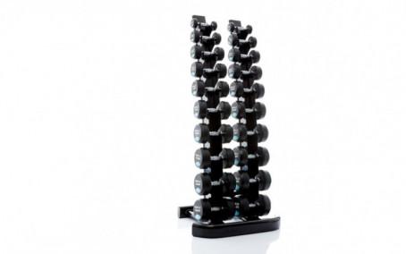 Ronde dumbbellset 1-10 kg Inclusief Dumbbellrek Verticaal