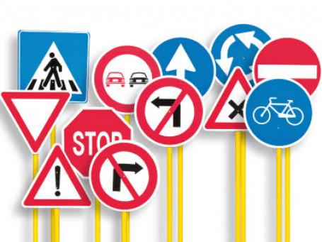 Verkeerstekens 12 stuks