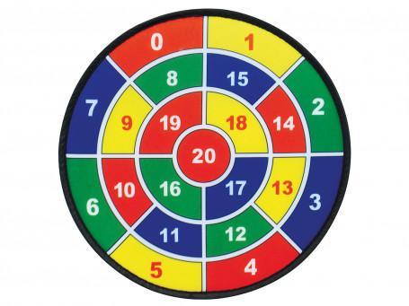 Dartbord Safety (3 schijven 9 Klittenballen)