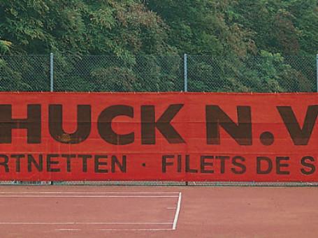 Tennisbaandoek 12 x 2 meter rood