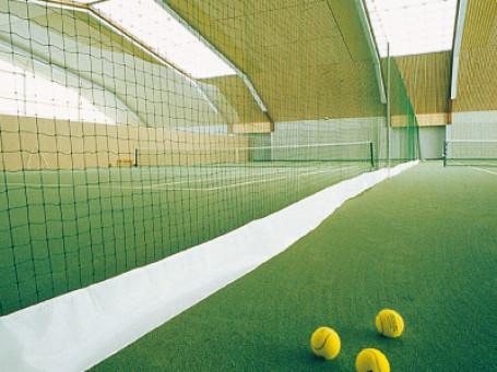 Tennisbaan-scheidingsnet VERSTERKT 40 x 2,5 meter groen