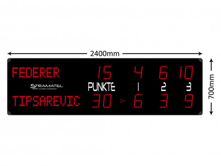 Scorebord tennis RTX Alpha