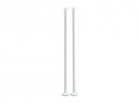 Enkelspelpalen aluminium wit per paar