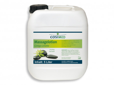 Massagelotion Ginkgo-Limoen 5 liter