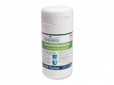 Desinfectiedoekjes vochtig CosiMed 100 stuks in een dispenserdoos