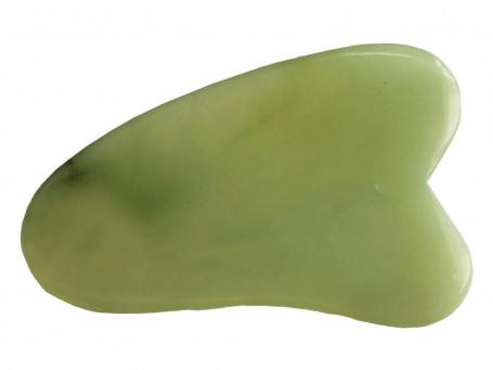 Gua Sha Schaber van Jade driehoekig