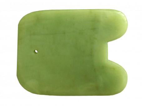 Gua Sha Schaber van Jade rechthoekig