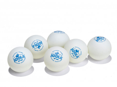 Tafeltennisballen Joola® ROSSKOPF CHAMP wit, doos van 6 stuks