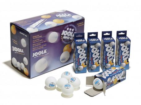 Tafeltennisballen Joola® SUPER wit, doos 72 stuks