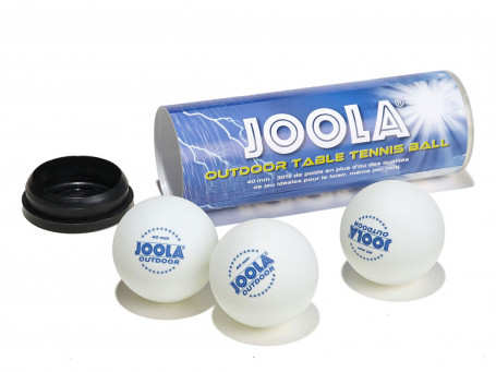 Tafeltennisballen Joola® OUTDOOR wit, set van 3 stuks
