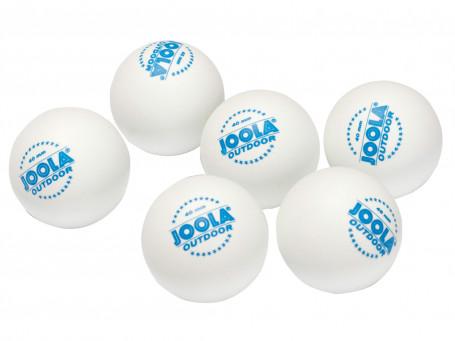 Tafeltennisballen Joola® OUTDOOR wit, set van 6 stuks