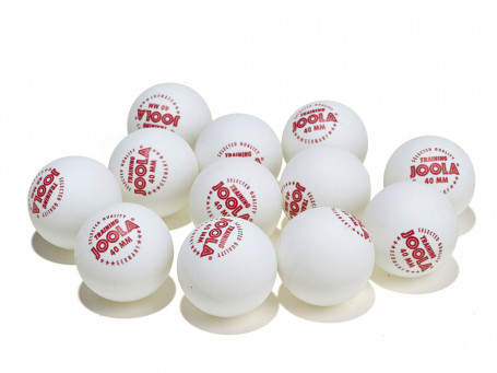 Tafeltennisballen Joola® TRAINING wit, verpakking van 12 stuks