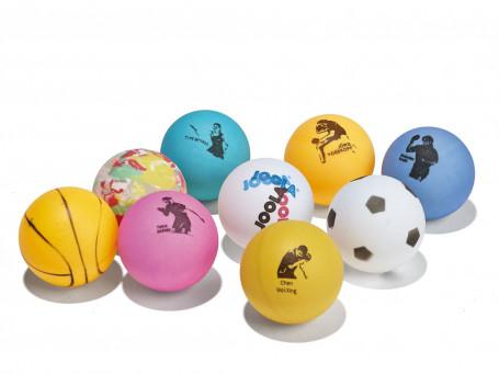 Tafeltennisballen Joola® FAN bont, blister met 9 stuks