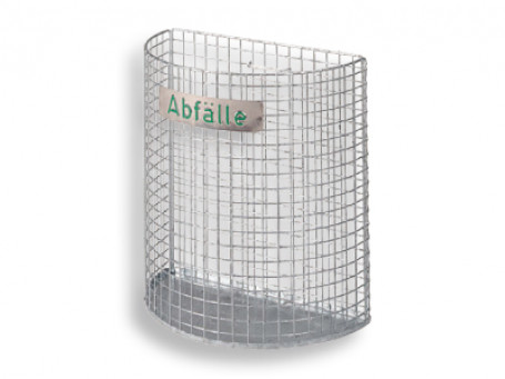 Gaas-afvalbak verzinkt, inhoud: 27 liter, 2,5 kg