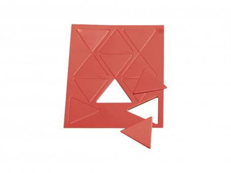 Taktifol Spelersymbolen rode driehoeken