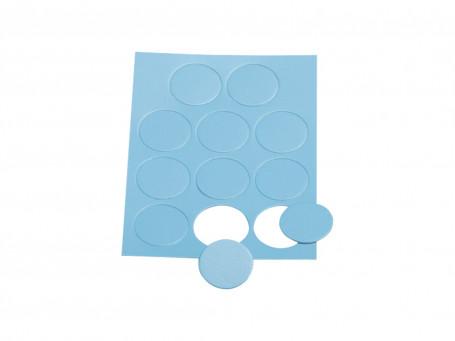 Taktifol spelersymbolen blauwe cirkels