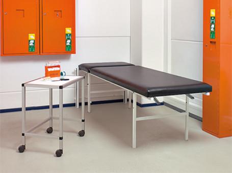 Massage- en ligbank verticaal opklapbaar