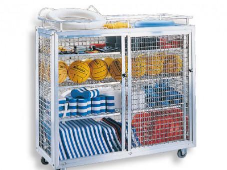 Materiaalwagen aluminium 150x62x148 cm
