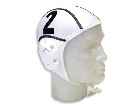 Waterpolocaps INNOVATOR set van 13 wit/rood