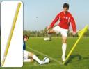 All-In Sport: Hoekvlagstok met veersysteem geel