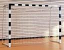 All-In Sport: Handbaldoel 3 x 2 meter zwart/wit doeldiepte 125 cm vast